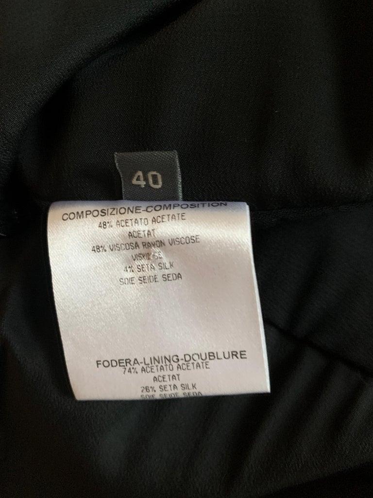 Alexander McQueen 2008 Black Drop Waist Dress with Pink Silk Band Detail For Sale 3