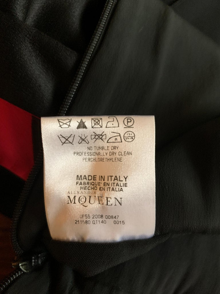 Alexander McQueen 2008 Black Drop Waist Dress with Pink Silk Band Detail For Sale 4