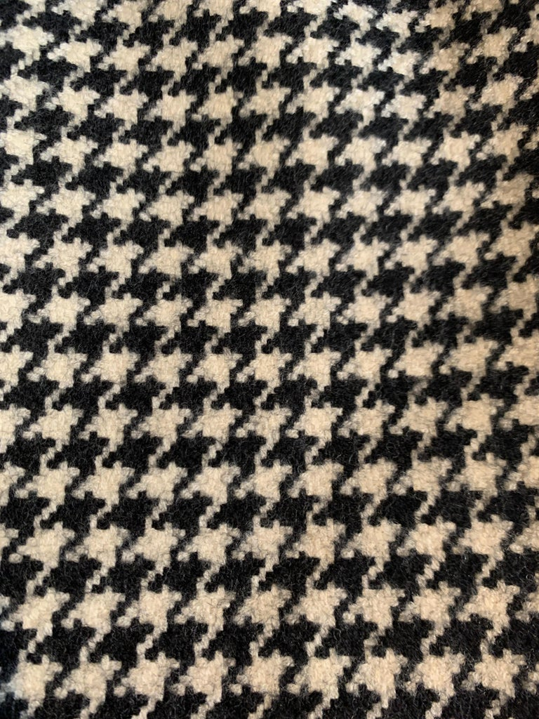 Alexander Mcqueen 2009 Wool Black and White Houndstooth Dogtooth Check Dress For Sale 1