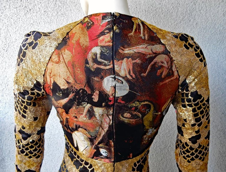 Alexander McQueen 2010 Angels & Demons Collection Hieronymus Bosch Evening Dress For Sale 7