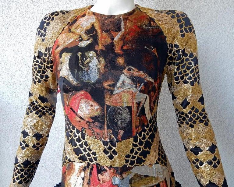 Women's Alexander McQueen 2010 Angels & Demons Collection Hieronymus Bosch Evening Dress For Sale