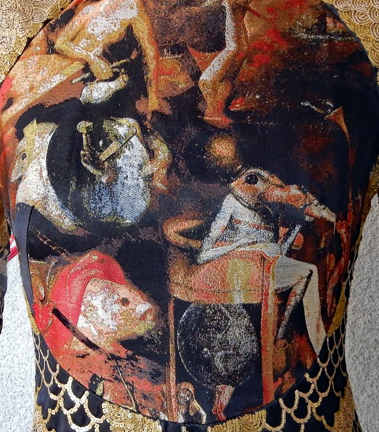 Alexander McQueen 2010 Angels & Demons Collection Hieronymus Bosch Evening Dress For Sale 1