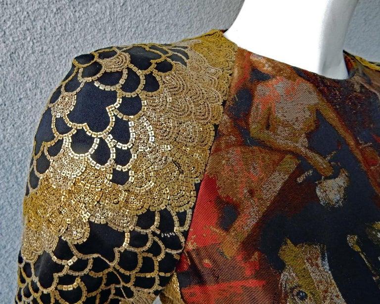 Alexander McQueen 2010 Angels & Demons Collection Hieronymus Bosch Evening Dress For Sale 3