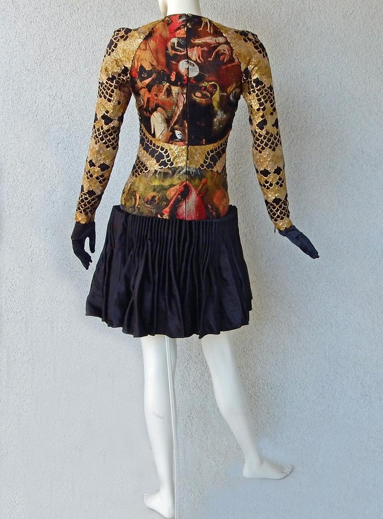 Alexander McQueen 2010 Angels & Demons Collection Hieronymus Bosch Evening Dress For Sale 5