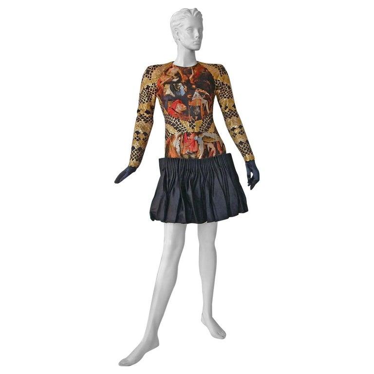 Alexander McQueen 2010 Angels & Demons Collection Hieronymus Bosch Evening Dress For Sale