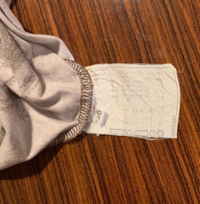 Alexander McQueen 90s Goya Los Caprichos Etching Print Shirt T-Shirt Brown For Sale 3