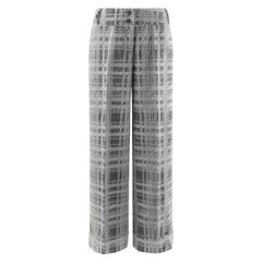 "ALEXANDER McQUEEN A/W 1999 ""The Overlook"" Gray Check Mohair Wide Leg Trousers"