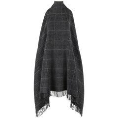 """ALEXANDER McQUEEN A/W 1999 """"The Overlook"""" Wool Check Fringe Blanket Halter Dress"""