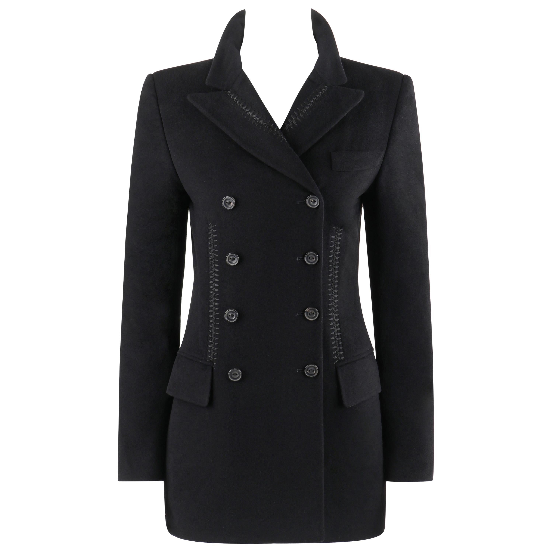 "ALEXANDER McQUEEN A/W 2002 ""Supercalifragilistic"" Black Cashmere Jacket Blazer"