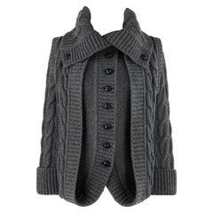 "ALEXANDER McQUEEN A/W 2006 ""The Widows of Culloden"" Cable Knit Layered Sweater"