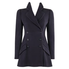 "ALEXANDER McQUEEN A/W 2006 ""Widows of Culloden"" Navy Blue Short Princess Coat"