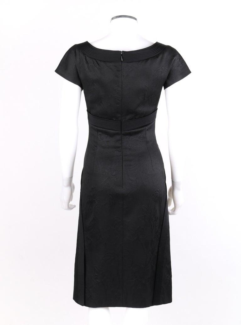 """Women's ALEXANDER McQueen A/W 2006 """"Windows of Culloden"""" Black Brocade Birds Silk Dress For Sale"""