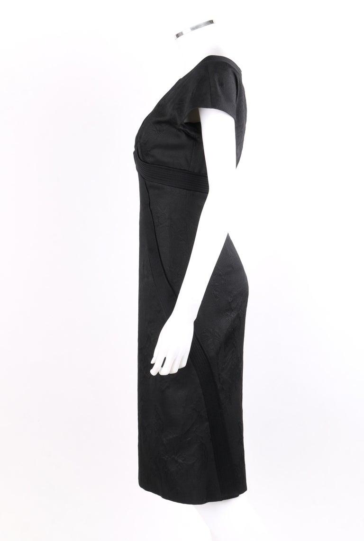 """ALEXANDER McQueen A/W 2006 """"Windows of Culloden"""" Black Brocade Birds Silk Dress For Sale 1"""
