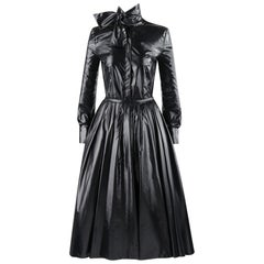 "ALEXANDER McQUEEN A/W 2009 ""The Horn Of Plenty"" Black Trash Bag Shirt Skirt Set"