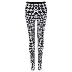 "ALEXANDER McQUEEN A/W 2009 ""The Horn Of Plenty"" Dogtooth Knit Stretch Legging"