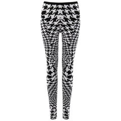 "ALEXANDER McQUEEN A/W 2009 ""The Horn Of Plenty"" Dogtooth Wool Knit Legging Pant"