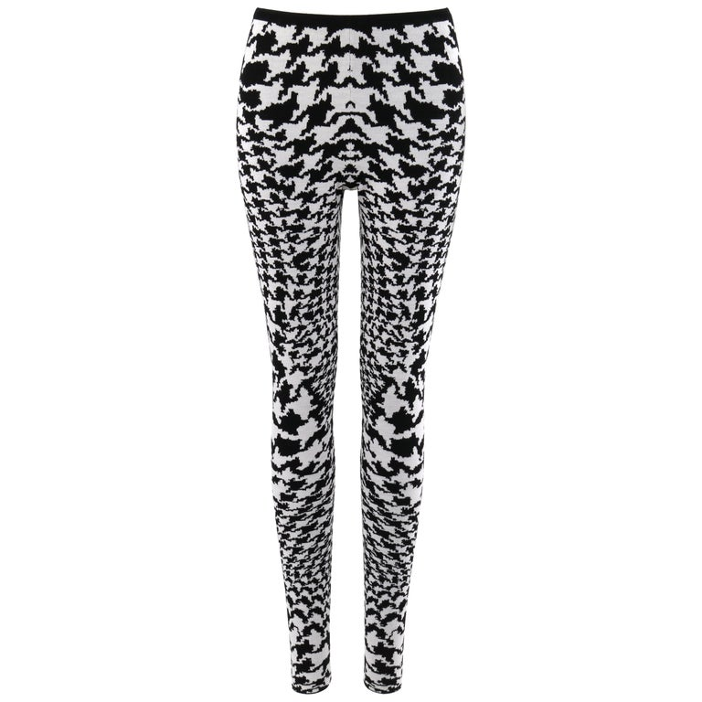 """ALEXANDER McQUEEN A/W 2009 """"The Horn Of Plenty"""" Dogtooth Wool Knit Legging Pant For Sale"""