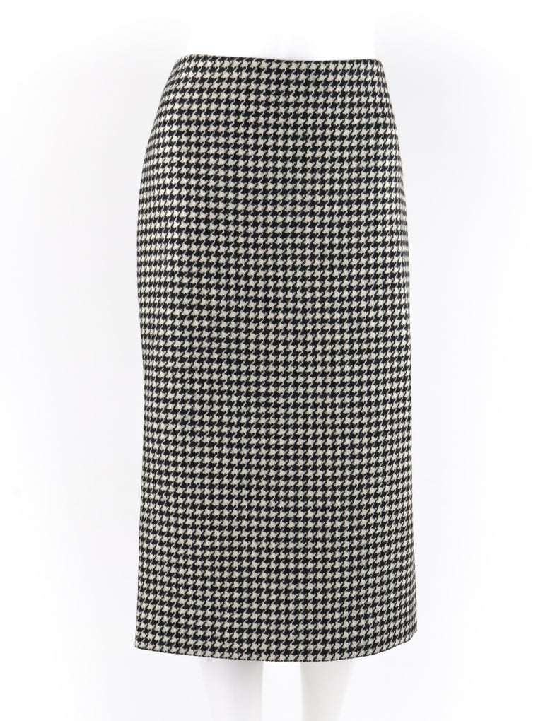 This Alexander McQueen dogtooth pencil skirt is gorgeously created in one of his final collections A/W 2009