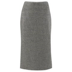 "ALEXANDER McQUEEN A/W 2009 ""The Horn Of Plenty"" Dogtooth Wool Pencil Skirt"