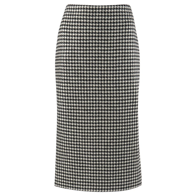 "ALEXANDER McQUEEN A/W 2009 ""The Horn Of Plenty"" Dogtooth Wool Pencil Skirt For Sale"