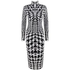 "ALEXANDER McQUEEN A/W 2009 ""The Horn Of Plenty"" Houndstooth Knit Sheath Dress"
