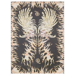 "ALEXANDER McQUEEN A/W 2010 ""Angels & Demons"" Flaming Skull Print Silk Scarf NWT"