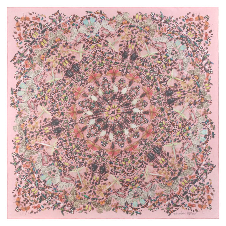 """ALEXANDER McQUEEN A/W 2013 Damien Hirst """"Judecca"""" Insect Kaleidoscope Silk Scarf For Sale"""