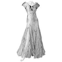 "Alexander McQueen Angels & Demons Final Collection ""Birth of Venus"" Dress Gown"