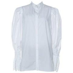 Alexander McQueen Anglaise Cuffed Bell Sleeve Detail Front Button Shirt M
