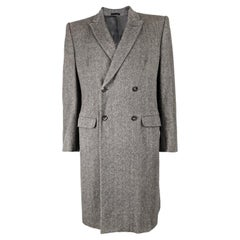 Alexander Mcqueen Archival Bold Shouldered Pure Cashmere Overcoat, A/W 2007