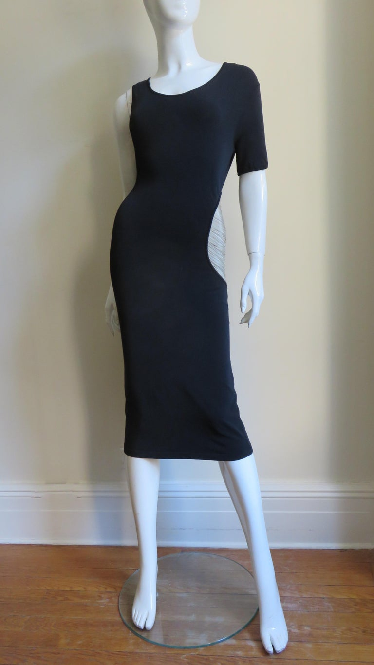 Alexander McQueen Asymmetric Dress with Chain Cut out For Sale 8