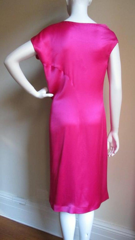 Women's Alexander McQueen Asymmetric Neckline Silk Dress  For Sale