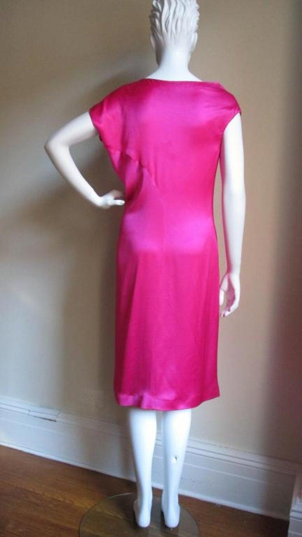 Alexander McQueen Asymmetric Neckline Silk Dress  For Sale 1