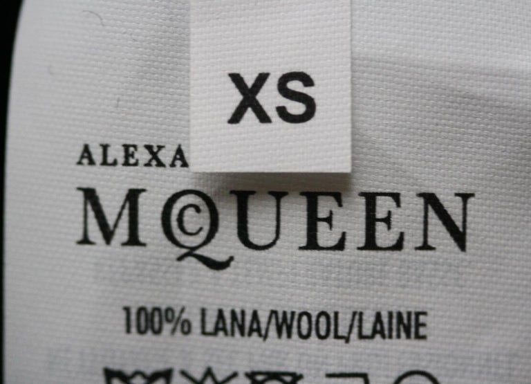 Alexander McQueen Asymmetric Wool Sweater Mini Dress  For Sale 2