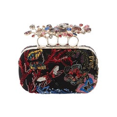 Alexander McQueen Beaded and Crystal Embroidered Cutch