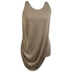 Alexander McQueen Beige Draped Sleeveless Top Size 40
