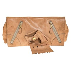 Alexander McQueen Beige Leather Faithful Glove Clutch