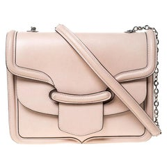 Alexander McQueen Beige Leather Heroine Chain Shoulder Bag