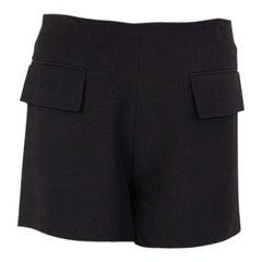 ALEXANDER MCQUEEN black acetate FLAP POCKETS Shorts Pants 38 XS
