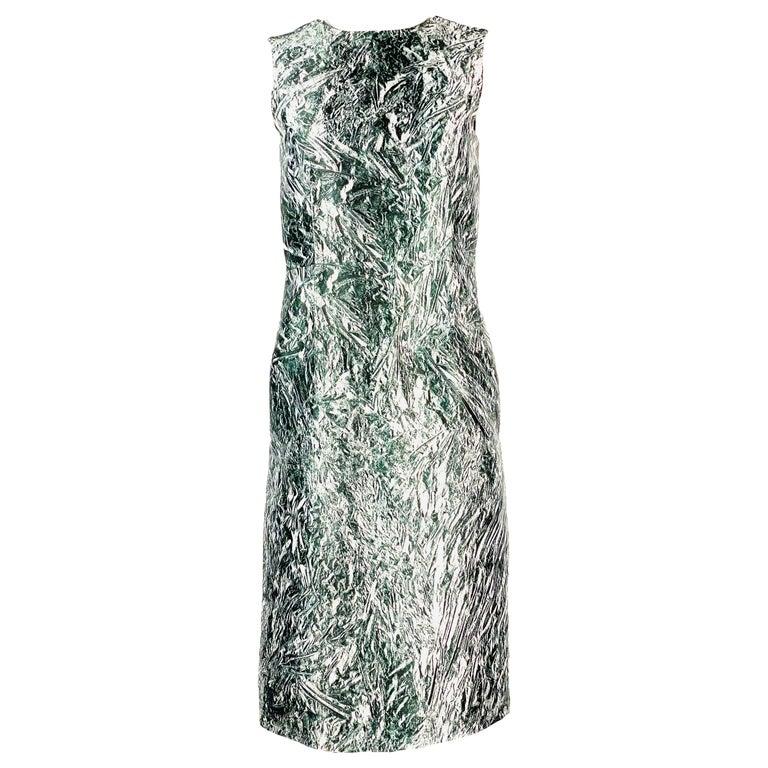 Alexander McQueen Black and White, Grey Sleeveles Open Back Midi Dress  For Sale