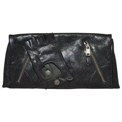 Alexander McQueen Black Calfskin Faithful Glove Clutch