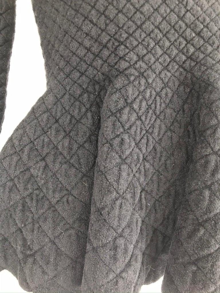 Alexander McQueen Black Diamond Pattern Peplum Top  8