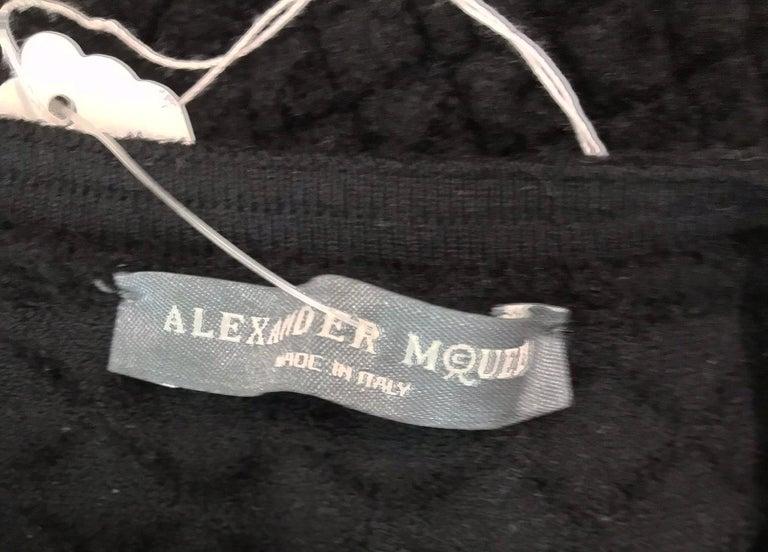 Alexander McQueen Black Diamond Pattern Peplum Top  9
