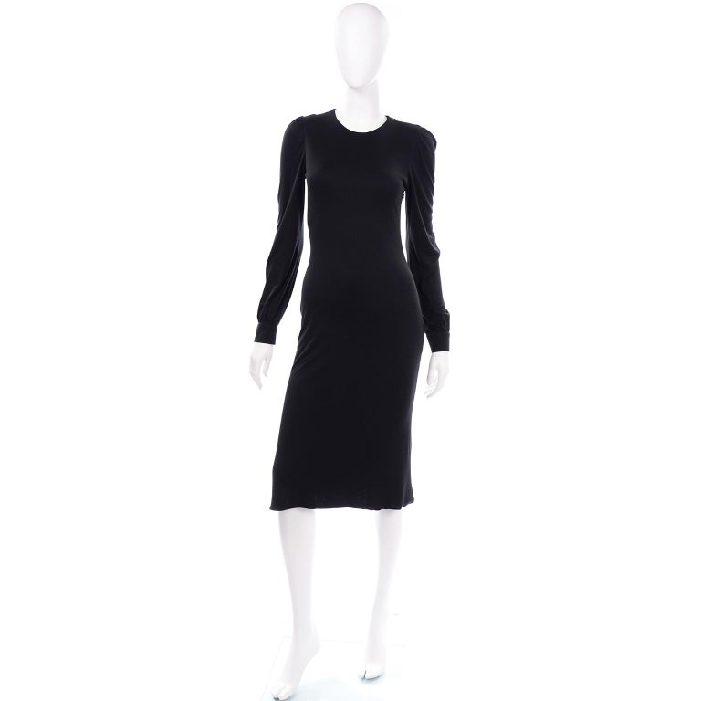 Alexander McQueen Black Dress With Low Lace Back 2005 The Man Who Knew Too Much For Sale 6