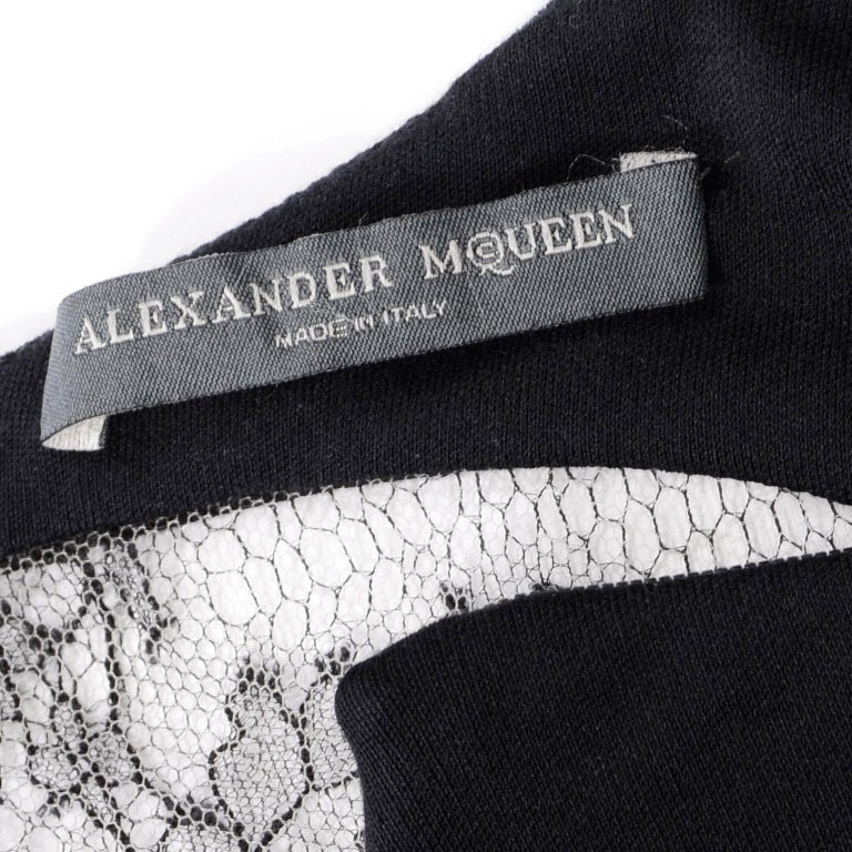 Alexander McQueen Black Dress With Low Lace Back 2005 The Man Who Knew Too Much For Sale 11