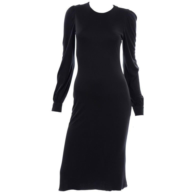 Women's Alexander McQueen Black Dress With Low Lace Back 2005 The Man Who Knew Too Much For Sale