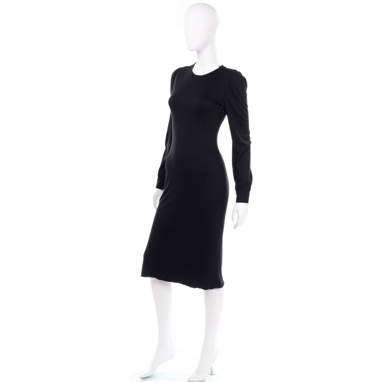 Alexander McQueen Black Dress With Low Lace Back 2005 The Man Who Knew Too Much For Sale 1