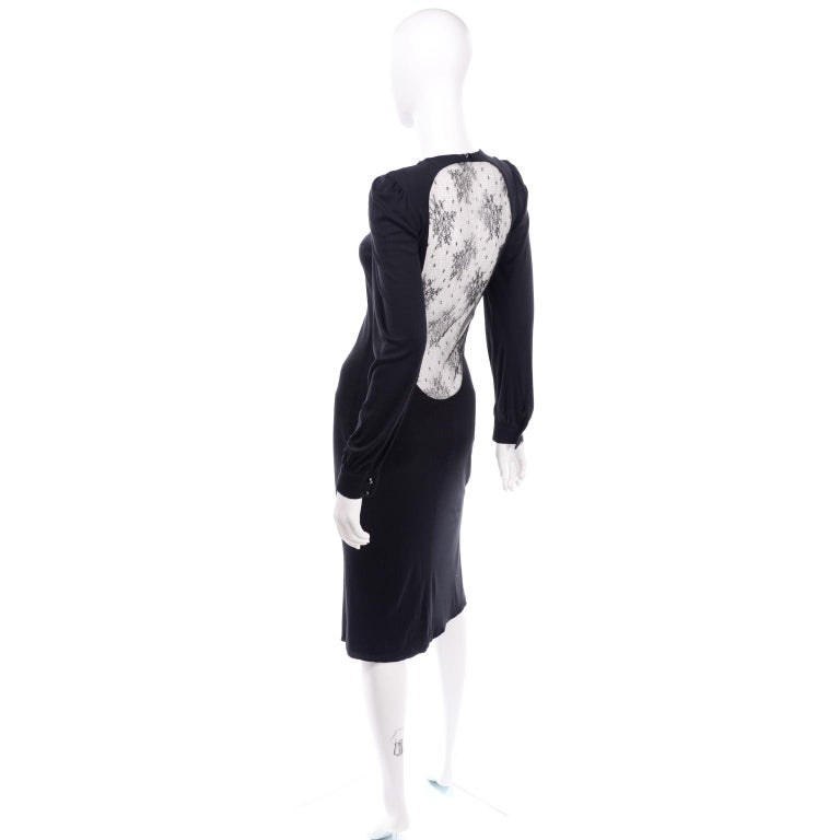 Alexander McQueen Black Dress With Low Lace Back 2005 The Man Who Knew Too Much For Sale 2