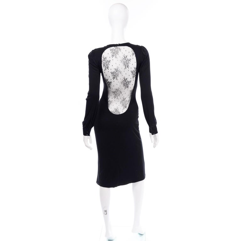 Alexander McQueen Black Dress With Low Lace Back 2005 The Man Who Knew Too Much For Sale 3