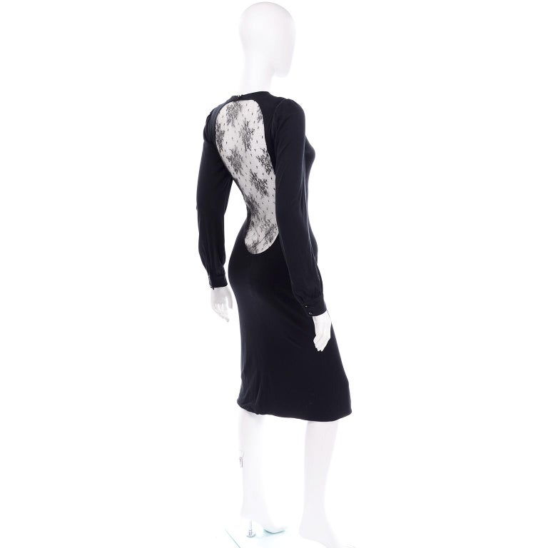 Alexander McQueen Black Dress With Low Lace Back 2005 The Man Who Knew Too Much For Sale 4
